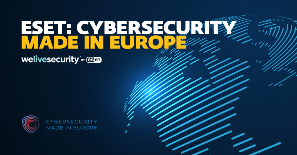 The ECSO 'Cybersecurity Made in Europe' label awarded to ESET